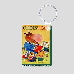 1975 Childrens Book Week Aluminum Photo Keychain