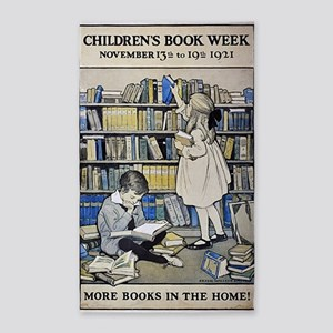 1921 Childrens Book Week poster 3'x5' Area Rug