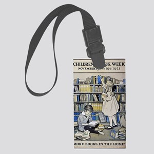 1921 Childrens Book Week poster Large Luggage Tag