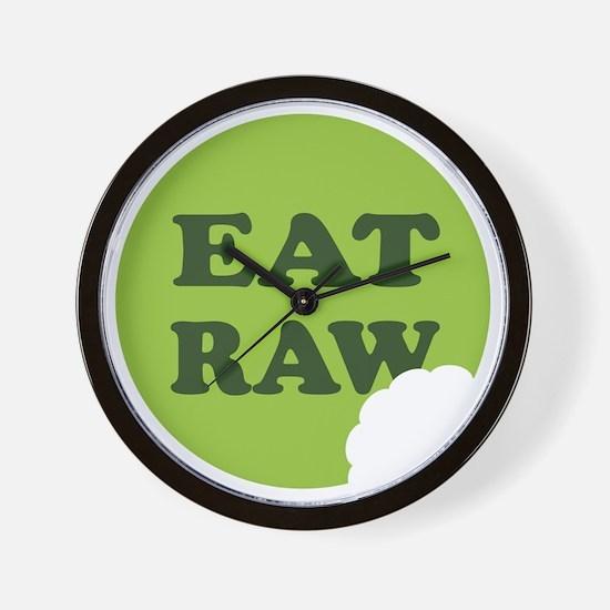 Eat Raw Wall Clock
