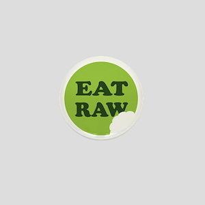 Eat Raw Mini Button
