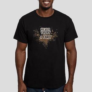 Never Trust a Fart Men's Fitted T-Shirt (dark)