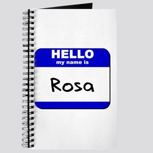 hello my name is rosa Journal