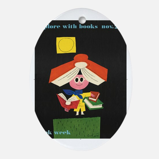 1958 Childrens Book Week Oval Ornament