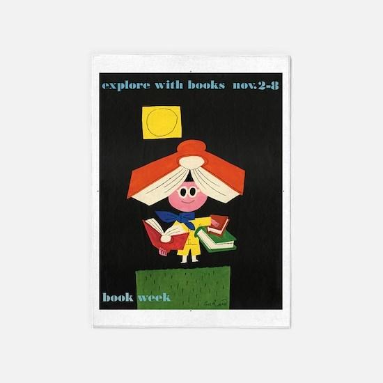 1958 Childrens Book Week 5'x7'Area Rug
