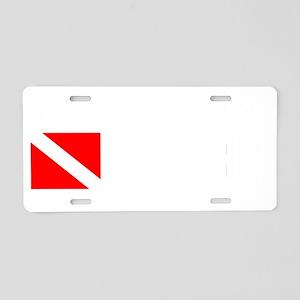 Arizona Diver Aluminum License Plate