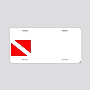 Arkansas Diver (white) Aluminum License Plate