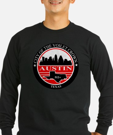 Austin logo black and red T