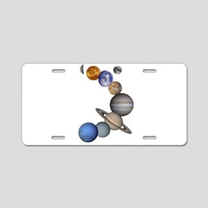 The Planets Aluminum License Plate
