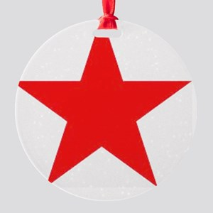Megans Sharon Tate Red Star Round Ornament