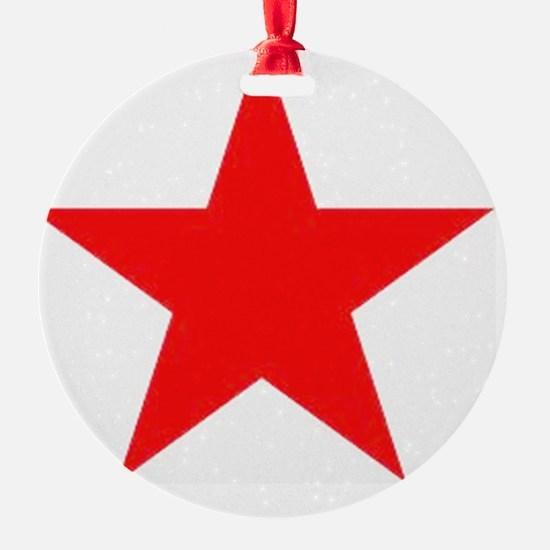 Megans Sharon Tate Red Star Ornament