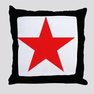 Megans Sharon Tate Red Star Throw Pillow