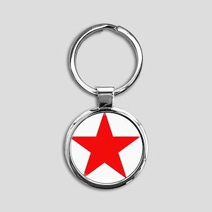 Megans Sharon Tate Red Star Round Keychain
