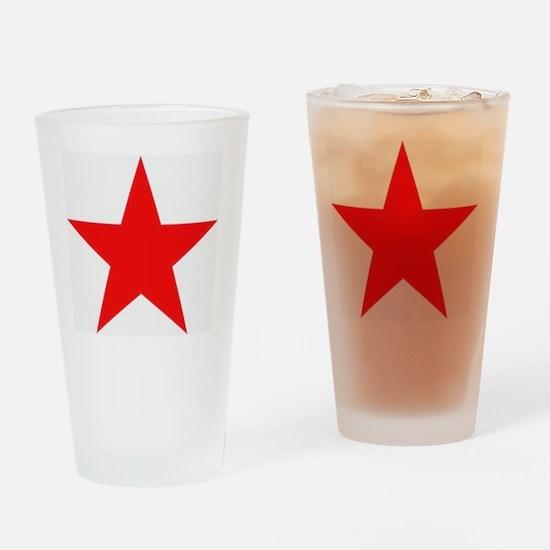 Megans Sharon Tate Red Star Drinking Glass