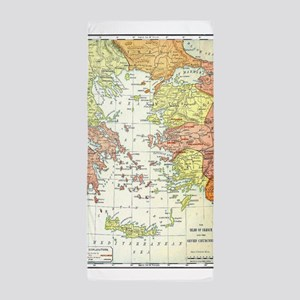 Map Isles Of Greece Beach Towel