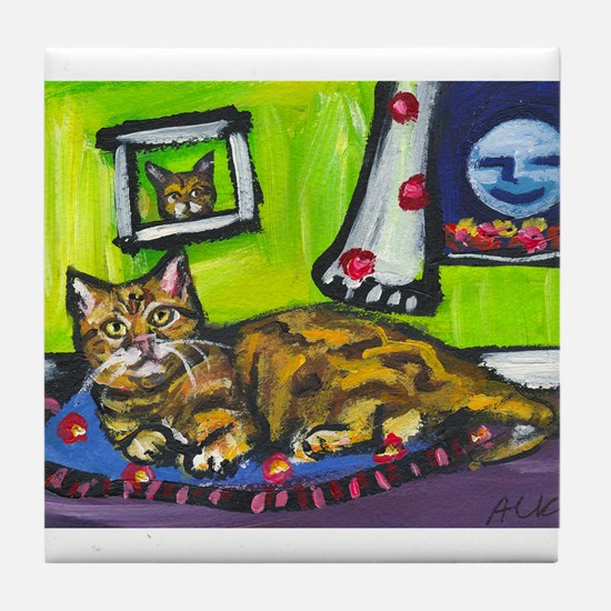 American Shorthair Red classi Tile Coaster