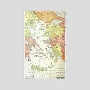Map Isles Of Greece Area Rug