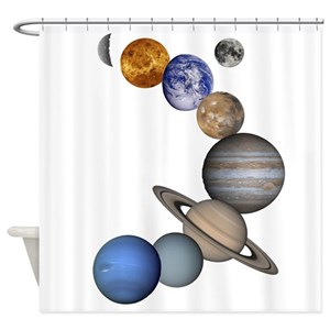 Solar System Shower Curtains
