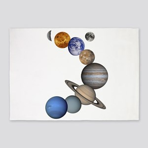 The Planets 5'x7'Area Rug