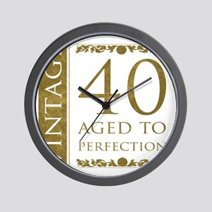 Fancy Vintage 40th Birthday Wall Clock