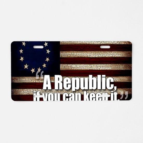 A Republic Aluminum License Plate