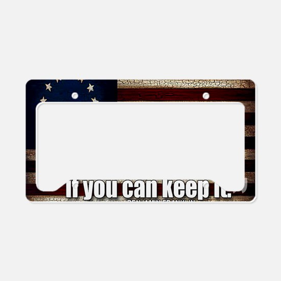 A Republic License Plate Holder