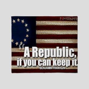 A Republic Throw Blanket