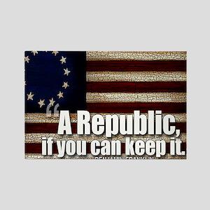 A Republic Rectangle Magnet