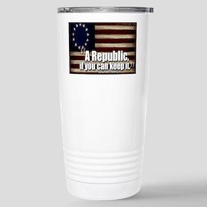 A Republic Stainless Steel Travel Mug