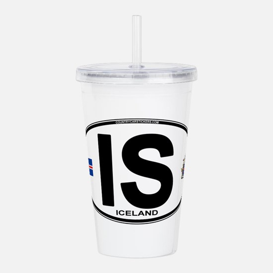 iceland-oval.png Acrylic Double-wall Tumbler