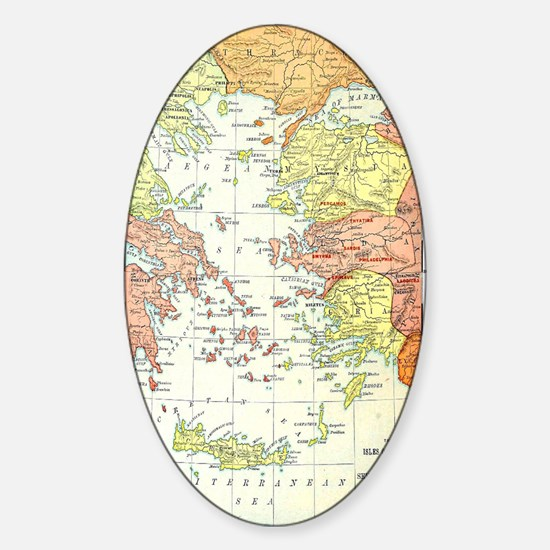 Map Isles Of Greece Decal