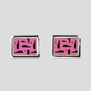 Pink Hearse Pattern Cufflinks
