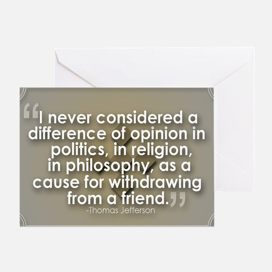 A Difference of Opinion Greeting Card