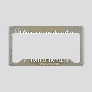 A Difference of Opinion License Plate Holder