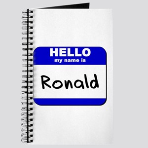 hello my name is ronald Journal