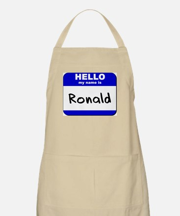 hello my name is ronald  BBQ Apron