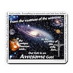 Awesome God Mousepad (Hebrews 4.13)