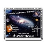 Awesome God Mousepad (Hebrews 4.13)