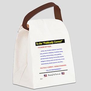 Anti-Political Correctness - Canvas Lunch Bag
