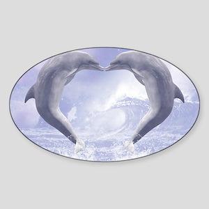 dk_pillow_case Sticker (Oval)