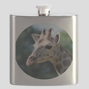 Giraffe Round Cocktail Plate Flask