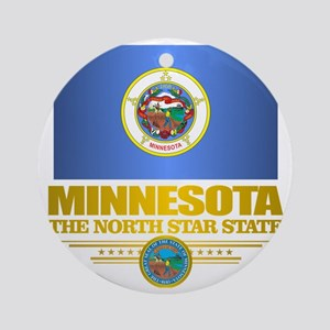 Minnesota Pride Round Ornament