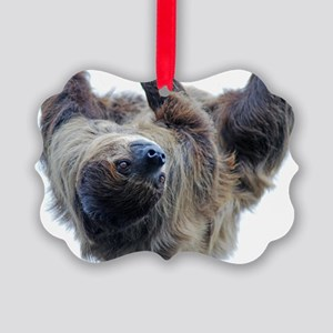 Sloth Large Print Picture Ornament