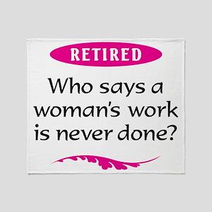 Woman Retirement Throw Blanket
