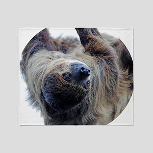 Sloth Round Cocktal Plate Throw Blanket