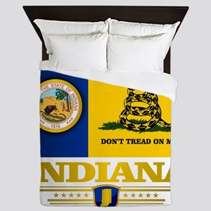 Indiana Gadsden Flag Queen Duvet