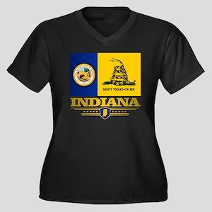 Indiana Gads Women's Plus Size Dark V-Neck T-Shirt