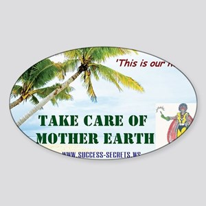 Earth Care Sticker (Oval)