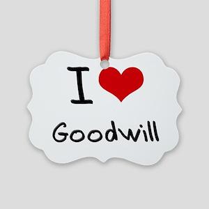 I Love Goodwill Picture Ornament
