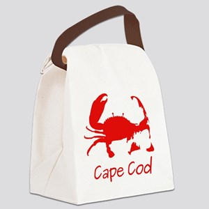 Red Crab, Casual Solid Canvas Lunch Bag